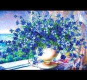 Вышивание бисером Лазурный вальс (цветы)