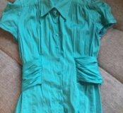 Рубашка бирюзовая