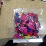 Интерьерные Бабочки магниты новые 16 шт