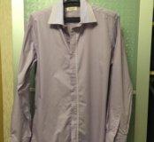 Новая сиреневая мужская рубашка, ворот 40-41.