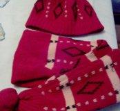 Комплект шапка-шарф
