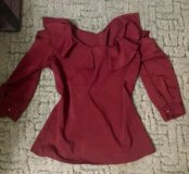 Новая блузка цвета марсало