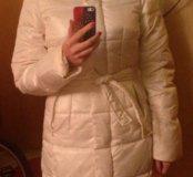 Пуховик пальто белое