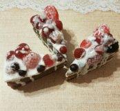 Мыло кусочек торта с ягодами