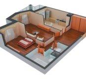 Двухкомнатная квартира 52м2 за 1650 т.р.