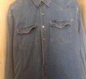Итальянская джинсовая рубашка Hugo Boss