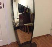 Большое Зеркало Фигурное с полочкой