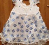 Платье снежинки и повязка на голову