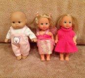 Кукла говорящая и пупсы