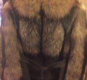 Енотовая куртка/полушубок