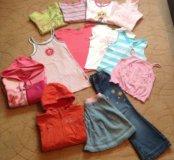 👩❤️💋👩Пакет одежды на девочку-110-116р