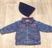 Джинсовая утеплённая курточка