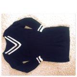 Вязанная туника-платье