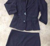костюм жакет+мини юбка