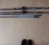 Лыжи+палки+крепление