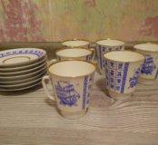 Набор кофейных чашек с блюдцами 6 шт.