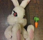 Интерактивный зайка с морковкой