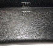 Мужской клатч кожаный Audi