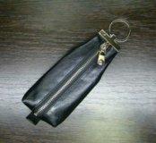 Кожаная ключница Petek, черного цвета