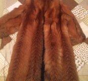Шуба из меха лисы огневки