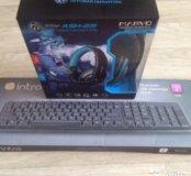 Игровая гарнитура и проводная клавиатура