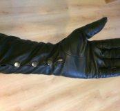 Перчатки нат. кожа, длинные Eleganzza