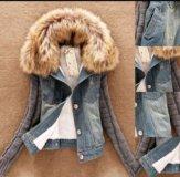 Джинсовая куртка утеплённая
