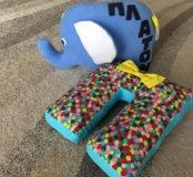 Первая игрушка-подушка и буква П