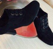 Туфли, ботильоны натуральная замша и кожа