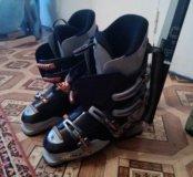 Горные лыжи плюс ботинки