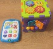 Музыкальный планшет и Развивающий куб (сортер)
