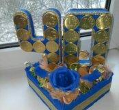 Композиция из конфет (букет из конфет )