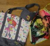 Купальник+пляжная сумка для девочки