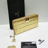 Кожаный кошелёк шанель