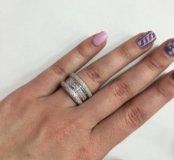 Новое золотое кольцо Chopard 750 пр. с брил.