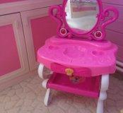 Туалетный столик детский розовый с муз и свет