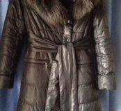 Фирменный пальто-пуховик