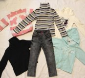 Кофта, джинсы на 4.5-6 лет