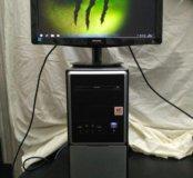 Мощный игровой четырех ядерный компьютер + монитор
