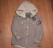 Клетчатая утепленная рубашка с капюшоном Next. 4 г