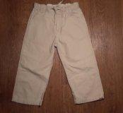 Бежевые льняные брюки фирмы H&M. 2-3 года. Б / У