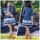 Элегантное джинсовое платье