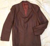 Мужской пиджак из искусственной кожи