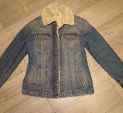Джинсовая куртка с подкладкой mavi jeans