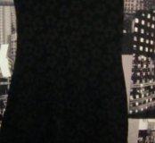 Платье чёрное с цветочками 🌸