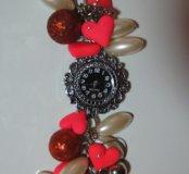 ⌚⌚Часы с браслетом украшенным полимерной глиной