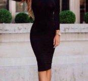 Черное Платье футляр качество