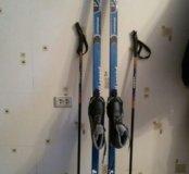 Беговые  Лыжи.Лыж.палки. лыж.ботинки