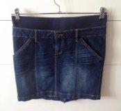 Юбка для беременных джинсовая