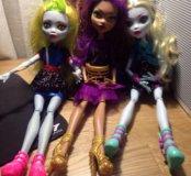 3 куклы Монстор Хай за 1000₽ оригинал.